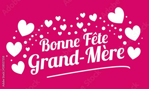 Bonne Fête Grand Mère Carte Coeur Buy This Stock Vector