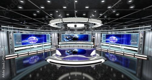 Photo  Virtual TV News Set 1
