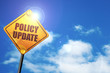canvas print picture - policy update, 3D rendering, traffic sign