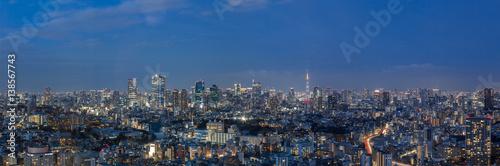 Staande foto Tokyo 東京都港区 夜景