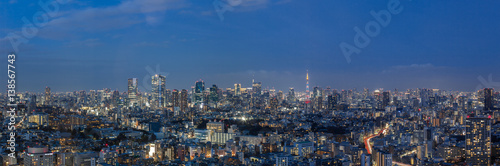Fotobehang Tokyo 東京都港区 夜景