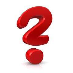 Fragezeichen 3d freigestellt Symbol 8