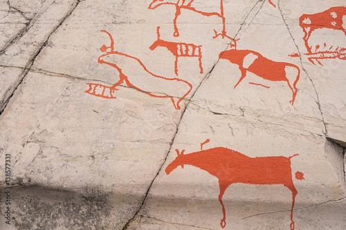 Graffiti picture of alta museum world heritage rock art centre