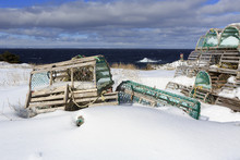 Snow Covered Lobster Traps