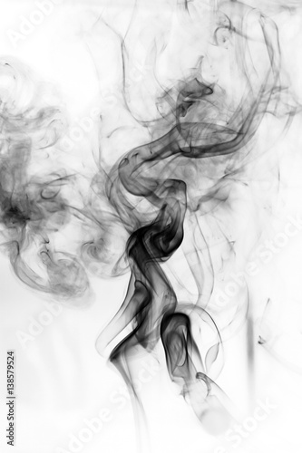Fototapety, obrazy: Toxic fumes movement on a white background..