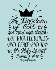 Bible Verse The Kingdom Of God...