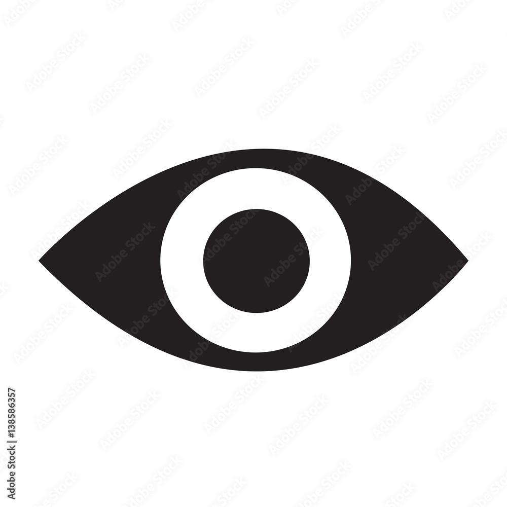 Fototapeta eye icon Vector Illustration