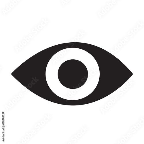 eye icon Vector Illustration Fototapet