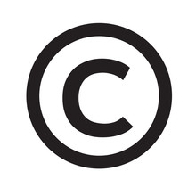 Copyright Symbol Icon Vector Illustration