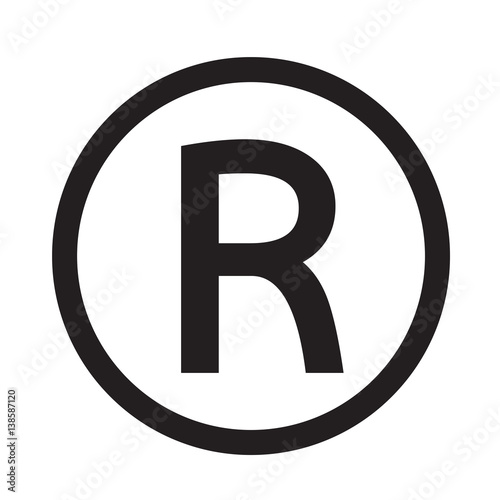 Photo  Registered Trademark icon vector illustration