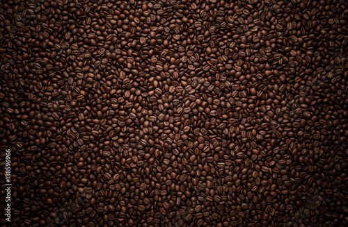Photo sur Toile Salle de cafe Texture of coffee beans