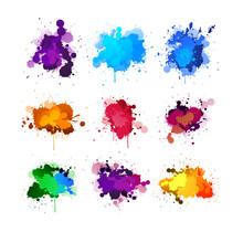 Colorful Ink Splashing Set