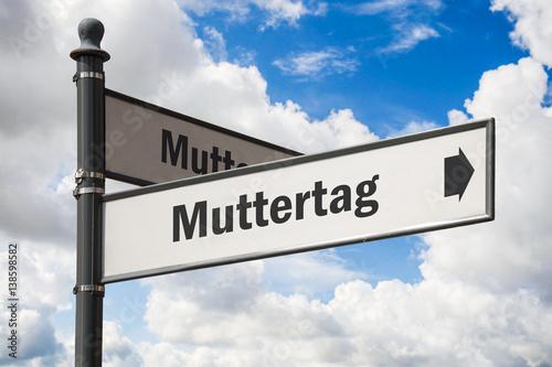 Fotografie, Obraz  Schild 197 - Muttertag