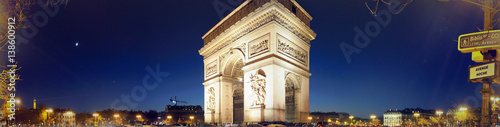 Valokuva  Panorama - Arc de Triomphe Paris - Beautiful at Sunset