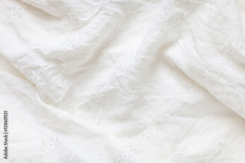 Photographie White linen cloth background