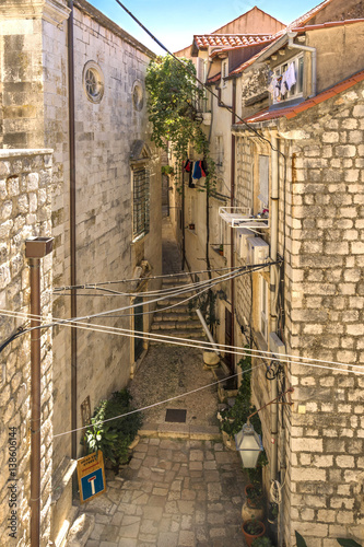 Narrow street in Old Town Dubrovnik, view from City Walls Poster