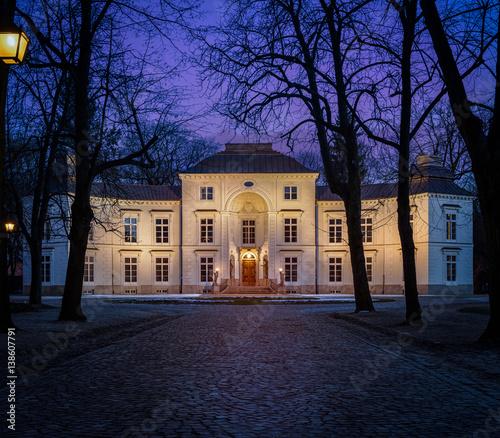 Pałac Myślewicki łazienki Warsaw Poland A Palace Facade