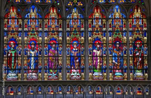 Obraz na plátně  Stained Glass - Catholic Saints