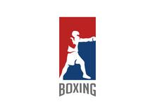Boxer Silhouette Logo Design V...