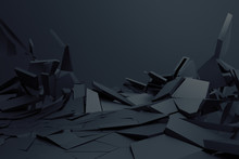 Abstract 3d Rendering Of Crack...