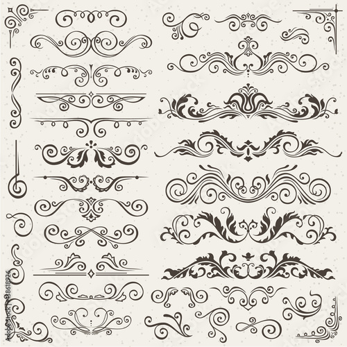 Flourish border corner and frame elements collection vector card flourish border corner and frame elements collection vector card invitation victorian grunge calligraphic stopboris