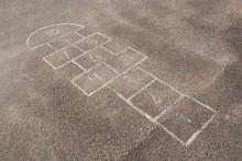 Childrens Hopscotch At Playground