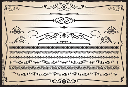 Western Design Elements Wallpaper Mural
