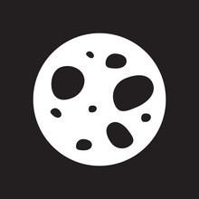 Flat Icon In Black And White A...
