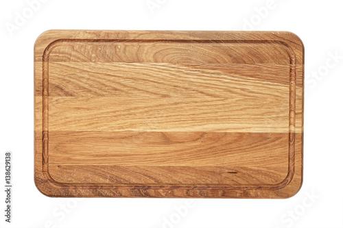 Rectangular wooden cutting board