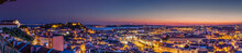 Panorama Of Lisbon At Dusk