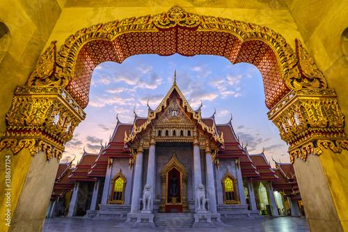 Cadres-photo bureau Bangkok Marble Temple or Wat Benchamabophit, Bangkok, Thailand (public temple no ticket fee)
