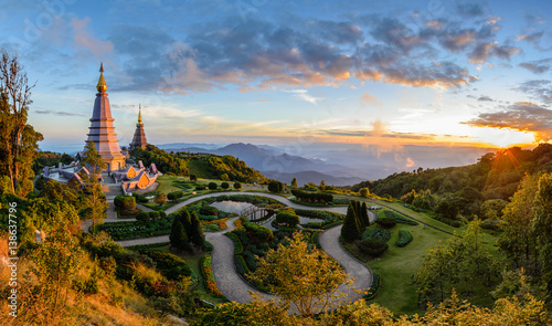 Doi Inthanon National Park when sunset, Chiang mai, Thailand
