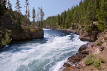 Rushing River In Yellowstone National Park