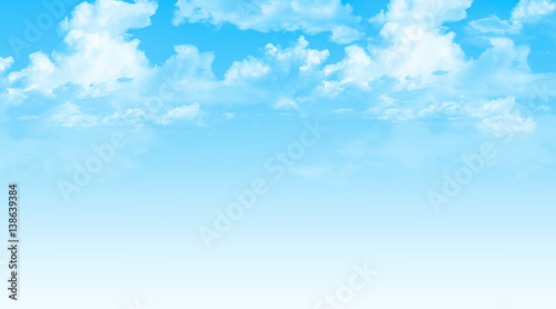 Illustration blue sky with clouds background.