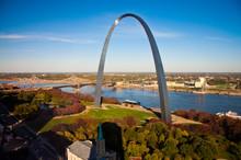 Gateway Arch In St Louis, Missouri