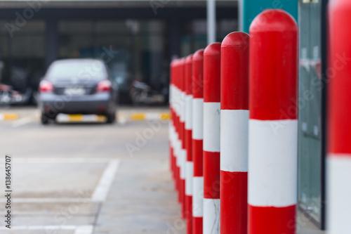 Photo of warning bollards