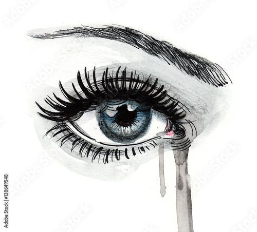 Fotografia Beautiful crying eye