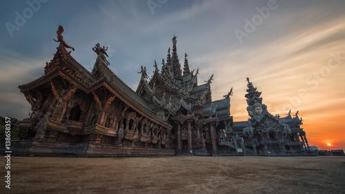 Poster Monument Sanctuary of truth in Naklua Pattaya