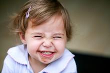 Lovely Little Girl Making Funny Face