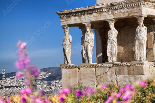 Photo Parthenon temple during spring time on the Athenian Acropolis, Greece