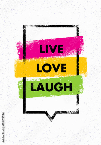 Stampa su Tela Live, Love, Laugh