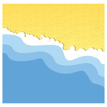 Background Beach With Sea And Sand Vector Illustration