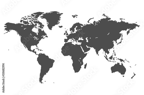 simple vector map of the world Wallpaper Mural