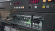 Offset printing press, printing production, industrial machine. Print house. 4k footage.