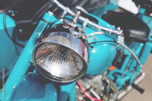 Fototapeta Element classic retro motorcycle obraz na płótnie