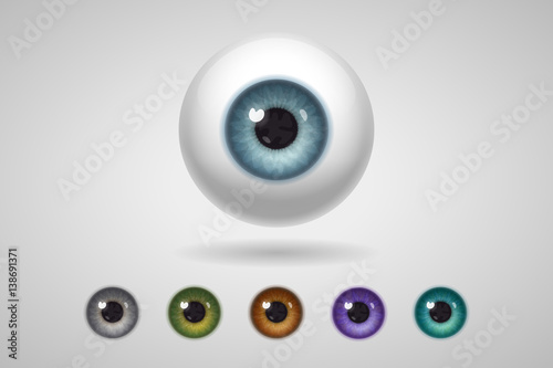 Photo Eyeball and colored irises