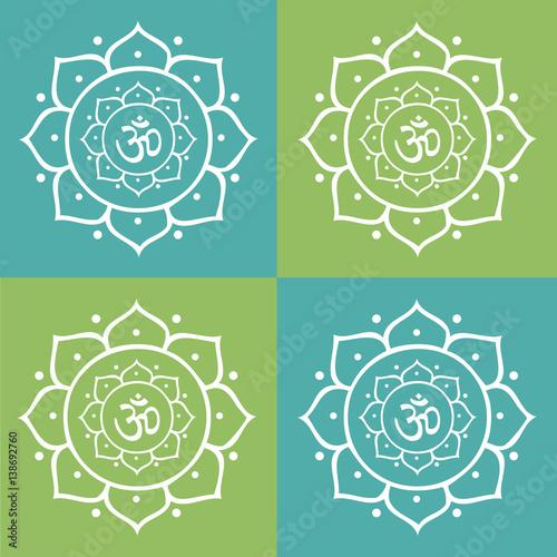 Vector om symbol and lotus flower mandala illustration buy this vector om symbol and lotus flower mandala illustration mightylinksfo