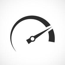 Speedometer Arrow Vector Icon