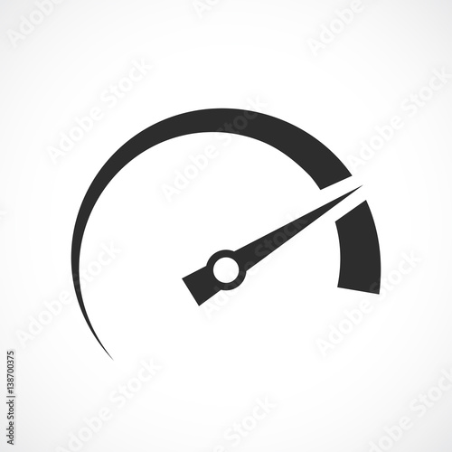 Photo Speedometer arrow vector icon