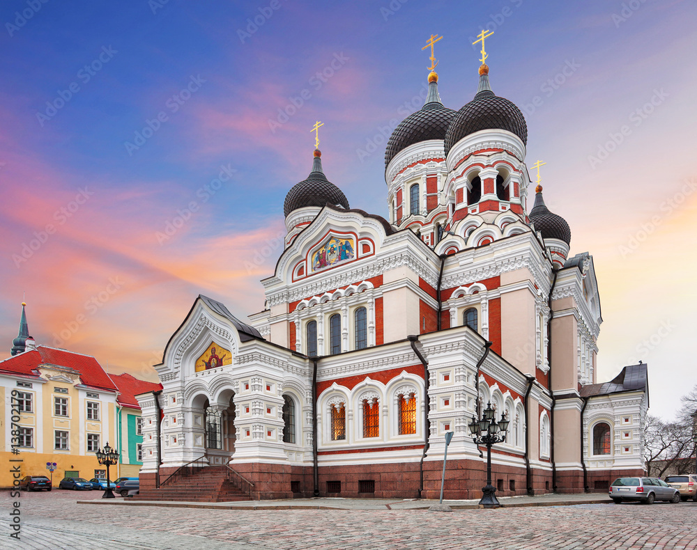 Fototapety, obrazy: Tallinn, Alexander Nevsky Cathedral, Estonia